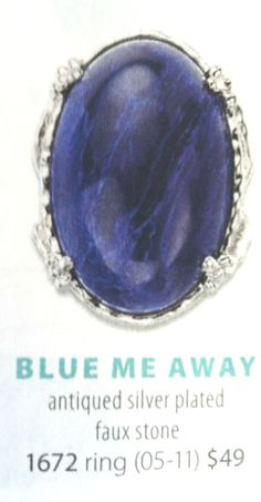Blue Me Away Ring  Find me on Facebook for ~PREMIER JEWELRY~ Lori Ann Wilson Remscheid