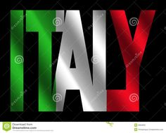 Italy Text With Italian Flag Stock Photography - Image: 6084832