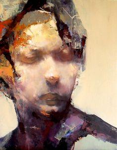 Asilo II (from the Asylum Seeker Series of Works), Paul W Ruiz, 2011, oil on linen   51 x 41 cm