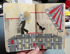 Collaborative project: The Flying Glue Book / collage by Olga Lupi
