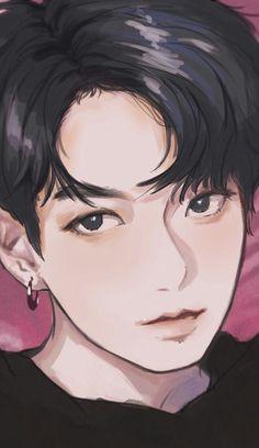 Jungkook Fanart, Fanart Bts, Bts Jungkook, K Pop, Bts Art, Kpop Drawings, Handsome Anime, Bts Chibi, Foto Bts