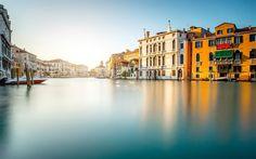 Lataa kuva Venetsia, Italia, illalla, matka, canal
