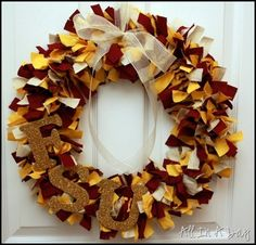 Collegiate wreath- mine would have different colors of course ;)