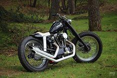 Custom Harley Ironhead Sportster by Pancake Customs #harleydavidsonsporster