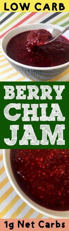 This low carb chia seed jam is about as easy as a recipe can come. You just simmer some raspberries with water and then add in sugar free sweetener and chia seeds.