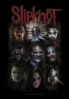 Drapeau SLIPKNOT - Oxidized #Drapeau #Slipknot #Masque