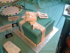 tiffany blue cake baby shower - Google Search