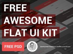 Another sweet freebie. Design your flat UI with this kit. Courtesy http://dribbble.com/IonutBondoc.