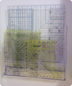 Great idea for organizing quilt rulers StitchinByTheLake: No ... : quilting room organization ideas - Adamdwight.com