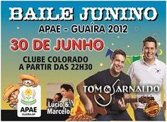 BAILE JUNINO DA APAE - DIA 30 DE JUNHO DE 2012.