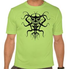 Alien Tribal Tattoo Species 273 black and white Shirt