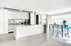 #modern home #white Karlson Homes caesar stone floor tiles organic white