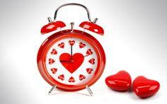 белый, цвета, Будильник, любовь, циферблат, красный, сердечки, часы, сердца, стрелки