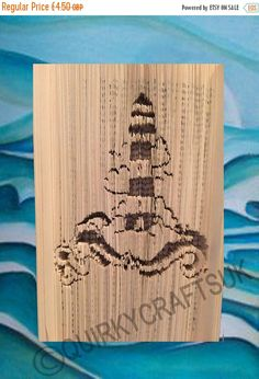 JAN17 Lighthouse Cut and Fold method book by QuirkyCraftsUK