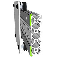 Open Rail is a new open source universal linear rail system designed to be used with various T- Slot aluminum extrusion configurations.