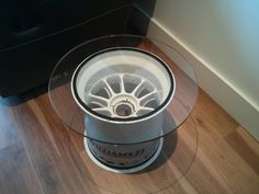 A stylish drinks table made from a raceused Sahara Force India F1