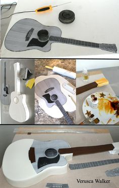 Verusca Walker guitar cake very good one Fondant Cookies, Cupcake Cakes, 3d Cakes, Cake Decorating Techniques, Cake Decorating Tutorials, Crazy Cakes, Fancy Cakes, Cake Structure, Music Cakes