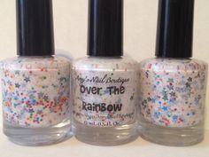 Over The Rainbow - 15mL Nail Polish. $8.00, via Etsy.
