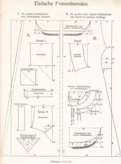 Chemise & Undie patterns from 1913