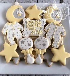 Twinkle Twinkle Little Star Baby Shower First Birthday Cookies Twinkle Twinkle L. - Twinkle Twinkle Little Star Baby Shower First Birthday Cookies Twinkle Twinkle Little Star Baby Sho - Cadeau Baby Shower, Idee Baby Shower, Shower Bebe, Star Baby Showers, Baby Shower Parties, Baby Shower Themes, Shower Ideas, Cool Baby, First Birthday Cookies