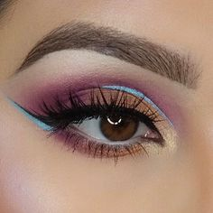 Swirly, colorful goodness by @makeupby_av, using our Bold #CoverShotPalette. #regram