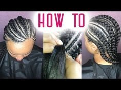 How To Do Feed-In Braids - YouTube