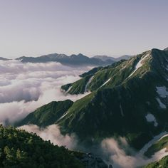 Sea of Clouds Under Mt. Tate and Mt. Tsurugi (2011)