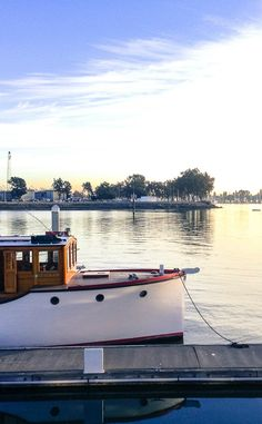 The waterfront at sunset. Oakland, California