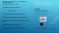 Pathopedia: Including the patho of the disease, the signs/ symptoms you will see and the priority interventions. B Cell, School Info, Education Degree, Rheumatoid Arthritis, Autoimmune, Family History, Disorders, Clinic, Medicine