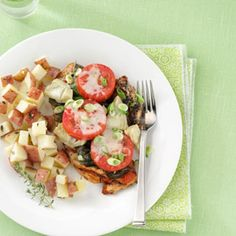 Margherita Chicken Recipe -Fresh basil gets all the respect in this super supper—even Forks will stand at attention when it hits the table. Healthy Grilled Chicken Recipes, Heart Healthy Recipes, Marinated Chicken, Keto Chicken, Healthy Options, Diabetic Recipes, Healthy Grilling, Healthy Cooking, Healthy Eating
