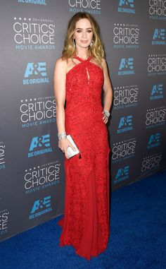 Red Lace Redux from Emily Blunt's Best Looks | E! Online