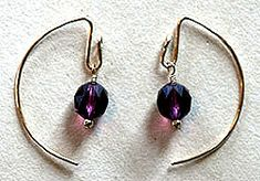 Alt. 1 to New Comma Jewelry Wire and Beads Earrings Jewelry Making Project