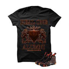 Real One Alumni (Fire) Black T-Shirt. 100% Cotton High Quality  Description T-Shirt By SACRED SOCIETE