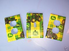 Light Switch Plate/Outlet Covers w/ John Deere Tractors. $9.99, via Etsy.