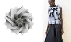 In-Ei lamps & clothes by Issey Miyake, lamps produced by Artemide.