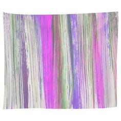 Lilac Brushstrokes Tapestry