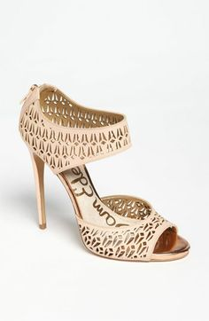 Chic classic shoe for spring and summer. Beautiful neutral color!  Sam Edelman 'Alva' Sandal available at #Nordstrom