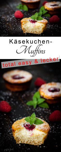 Rezept für total einfach und herrlich leckere Käsekuchen Muffins mit Himbeeren.  #Käsekuchen #Mufins #Muffin #Himbeeren #Cheesecake #Cheesecakemuffin #backen #Kuchen #Cake #Raspberry #lecker #köstlich #tasty