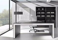 Learn more about OFIFRAN, a Spain's leading company in the manufacturing of high-end classic and contemporary office furniture. Office Table Design, Reception Desk Design, Modern Office Design, Office Furniture Design, Workspace Design, Office Designs, Executive Office Desk, Backyard Office, Contract Furniture