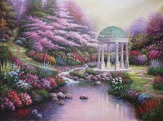 "Thomas Kinkade - ""Pools of Serenity"""