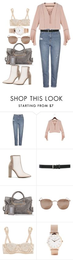 """""""Sin título #3717"""" by beel94 ❤ liked on Polyvore featuring Topshop, M&Co, Balenciaga, Linda Farrow, Dolce&Gabbana and ROSEFIELD"""