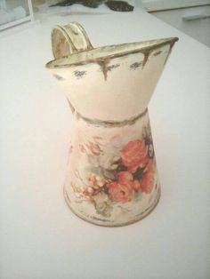 Metal can with decoupage by Dynamai 2017