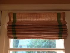 The Project Diary: Burlap Roman Shade for the Back Door