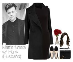"""""""SET NUMBER EIGHT: Matt's funeral with Harry (Husband)"""" by txmporaryfix ❤ liked on Polyvore featuring Mulberry, Trish McEvoy and Sia"""