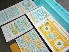 Adam Ramerth Wedding Invitation design. 12 Inspiring #Wedding Invitations #design #typography #print