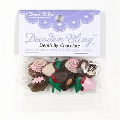 Dress It Up Embellishment Buttons Death By Chocolate from @fabricdotcom  These novelty embellishment buttons are the perfect finishing touch to apparel and craft projects. Buttons feature a shank attachment. Package contains at least 8 pieces. Please purchase sufficient amounts as design may vary in the package.