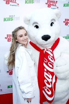 Recording artist Sabrina Carpenter attends KIIS FM's Jingle Ball Village at iHeartRadio's Jingle Ball 2016 presented by Capital One pre-show at on December 2016 in Los Angeles, California. Sabrina Carpenter Outfits, Disney Original Movies, Famous Girls, Dove Cameron, Female Models, Hip Hop, Singer, Actresses, Cute