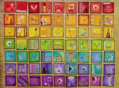 collaborative art projects for kids | Rainbow Inchies - Great collaborative art project! by colette