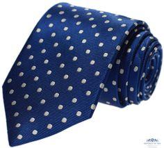 Krawat jedwabny w grochy