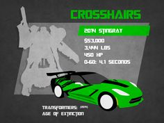 A Profile of Crosshairs from the new movie Transformers: Age of Extinction.